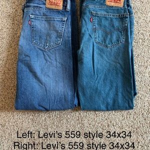 Two pairs of jeans. Same size and style. Like new.